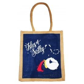 IOS Puffin Jute Shopping Bag