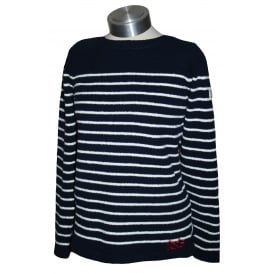 Ladies Seaham Chenille Jumper French Navy