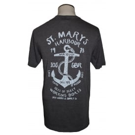 Mens St Mary's Harbour Tee Washed Charcoal