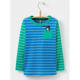 Kids Peeker Jersey Top Ocean Wolf Pocket