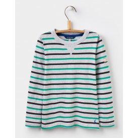 Kids Breton Grey Marl Multi Stripe