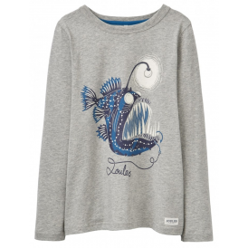 Joules Boys' Raymond Glow In The Dark Top Angler Fish