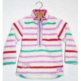 Kids Merridie Half Zip Fleece Mauve Multi Stripe