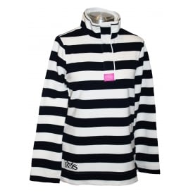 Ladies Saunton Sweatshirt French Navy Stripe