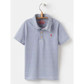 Kids Tom Flag Polo Shirt Blue Stripe