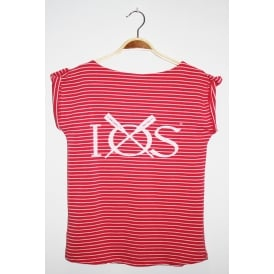 Ladies IOS Rolled Sleeve Tee Rouge Red