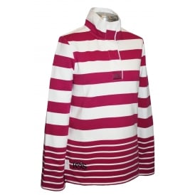 Ladies Saunton Sweatshirt Ruby Stripe