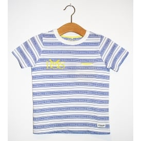 Kids Lenny Jersey Top Navy Stripe