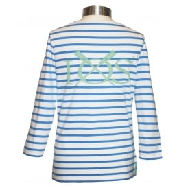 Ladies 3/4 Sleeve Breton Top Regatta