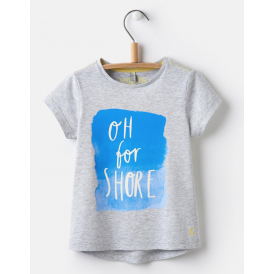 Kids Pixie Jersey T-shirt Grey Marl Shore