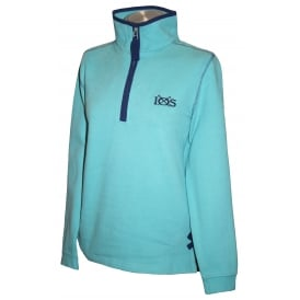 Ladies 1/4 Zip Sweatshirt Salt Wash