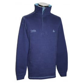 Mens IOS 1/4 Zip Sweatshirt Maritime Blue