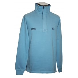 Mens IOS 1/4 Zip Sweatshirt Slate Blue
