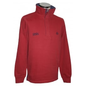 Mens IOS 1/4 Zip Sweatshirt Brick