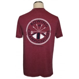 Mens Washed Rowing Champs T-Shirt Burgundy