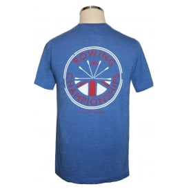 Mens Washed Rowing Champs T-Shirt Royal Blue